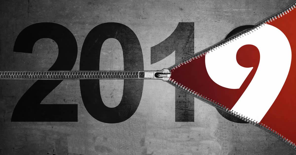 bonne annee 2019 fermeture glissiere